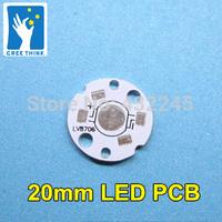 100pcs/lot .20mm LED PCB for 1W 3W high power LEDs .high power leds heat. heat sink aluminum base. 1W PCB 3W PCB.free shipping.