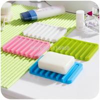 Korean version of the Creative  can drain and soap dish soap holder Silicone Soap Dish soap box fashion care J0552