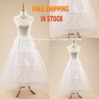 Hot sale Cheapest A-Line White Wedding Petticoats Free Size 3 Hoop Bridal Slip Underskirt Crinoline For Wedding Dresses DS148