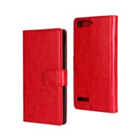 New Luxury Crazy Horse Wallet Style Leather Case for Huawei Ascend P7 mini Phone Cases Covers