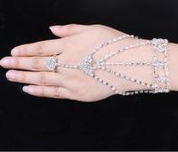 OMH wholesale white  jewelry With diamond shining fashion women's crystal bracelet SZ84