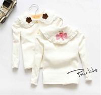 New 2014 baby girls cotton butterfly doll shirt children long cotton coat children kids fashion outwear A139