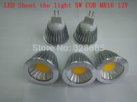 LED Spotlight COB 5W MR16 12V white/warm white Bulbs Household lighting lamps and lanterns 5pcs/lot