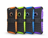 Super Hybrid PC&TPU 2 in 1 Spider Dropproof Case For apple iphone 6 6G 4.7 inch Camboo Cases With Stand Free Shipping