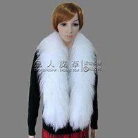 Beach wool scarf fur scarf fox fur scarf raccoon fur
