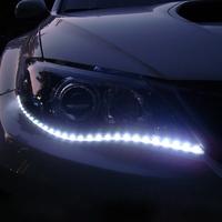 Free Shipping 2pcs/lot 30cm 15 SMD White Waterproof Lights High Power Car Auto Decor Flexible LED Strips#EC062