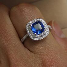 Victoria Wieck Dazzling Emerald cut sapphire simulated diamond 925 silver Wedding Band Ring Sz 5 11