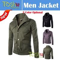 2014 Hot Autumn Fashion Men Jacket All-match Slim Men Sportswear Jacket Plus Size 4XL Casual Jacket Coat Free Shipping