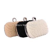 Hot Style Women Clutch Handmade Beaded Diamond Finger ring Wedding Party Handbag Messenger Shoulder Evening Bag 50005