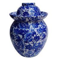 Medium Size Jingdezhen Lead-Free Ceramic Pickled Vegetable Jars With Kapok Design