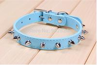 Pet collar 12pc Adjustable Pet Dog Cat collar Pet Products new style punk PU leather collar C367-371