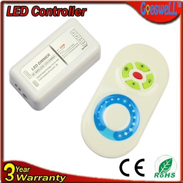 RGB контролер Touch rf dimmer , dc12v/24v 8A 433M RF Wireless led dimmer rgb контролер 30pcs 28keys dc12v irs28k 6a