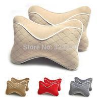 Bamboo charcoal car seat headrest neck pillow car waist back cushion car pillow a pair with a bone