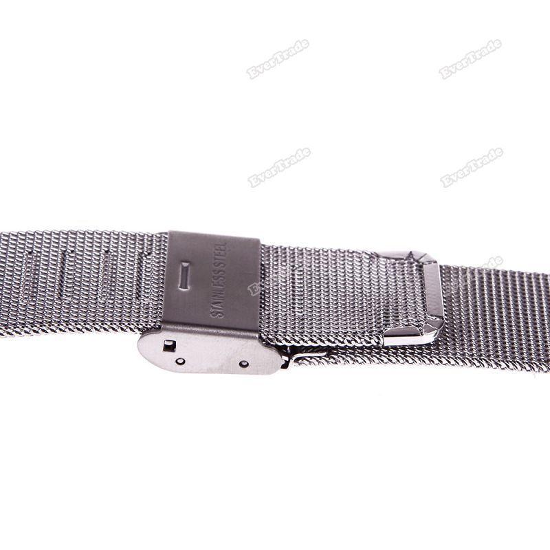 Worldprice obter mais New aço inoxidável assista malha pulseiras Strap perfeito artesanato banda garantia de qualidade(China (Mainland))