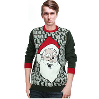 High Quality 2014 fashion winter men's  crewnecks cashmere pullovers matching deer couple christmas sweaters