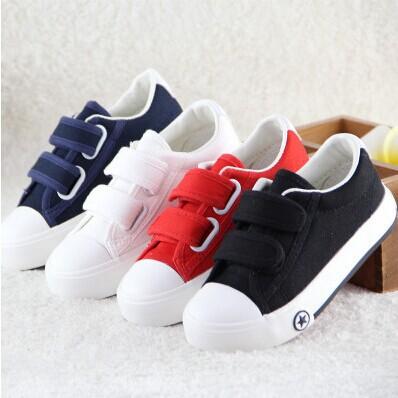 Новый детская обувь для детей сабо девушки парни холст обуви черный белый красный скейт обувь весна осень обувь
