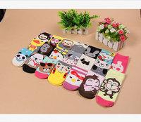 200 pairs wholesale --2015 new Cartoon animal boat ladies socks short socks