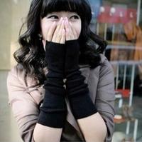 2014 new hot Fashion 5 colors winter warm Knitting Semipalmate Long arm warmers