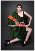 BG70787  2014 Genuine Full Pelt  Mink Fur  Winter Overcoat   Winter Ladies' Long Clothes