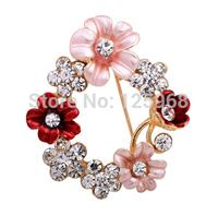 Free Shipping!2015 New 3pcs/lot Decorative Brooch Garment Dress Accessories Wedding Bridal Elegant Rhinestone Flower Brooch Pin