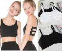Women Cut-out Strap Bra Crop Top Shirt Bandage Bandeau Tube Top Tank Vest Tops