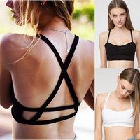 New Sexy Women's Padded Bra Tank Tops Bustier Bra Vest Crop Top Bralette Blouse