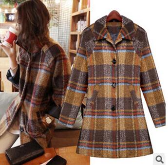 Women Plaid Jacket