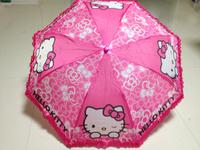 2015 New Arrival Children Cartoon Umbrella Kid's Umbrella Lovely Pattern Waterproof High Quality Hello kittyied