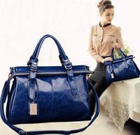 2015 Women Genuine Leather Handbags Fashion Cowhide Female Bag Women Messenger Bag Shoulder Bags Elegant Simple Portable Bag A8