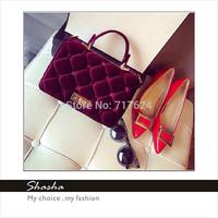 2015 new fashion famous designers brand women handbag C messenger bags girls VELOUR shoulder bag black phone purses bolsas