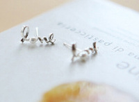 2015 New  Fashion Alloy Surround  Hearts Inlay Pearl Earrings Charm Statement  Stud Earrings 30 Pairs Jewelry For Women X676