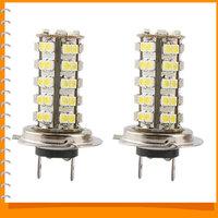 1pair! High Quality H7 LED Car Fog Light Foglights Auto Car LED Fog lamps Foglamp with 68 pcs SMD LED Xenon White Bulbs