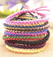 OMH wholesale red mix jewelry fashion handmade hemp rope bracelet SZ65
