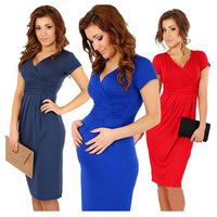 2015 new Women dress Slim package hip casual dress fashion style V -neck sexy dress