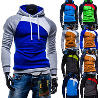 Morning Running Necessary New Fashion Men's Loose Sports Running Patchwork Hoodie Free Shipping LJM034