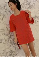 Free shipping 2015 new  European and American fashion waist loose long-sleeved dress temperament autumn  QZ1247