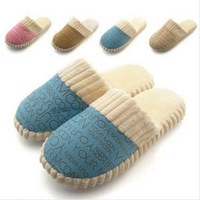 New 2015 Autumn Winter Warm Women Slippers and Men Slippers Cotton-padded at Home Unisex Slippers indoor shoes SL004