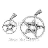 Free shipping! Five Star Shield Pendant Stainless Steel Jewelry Fashion Biker Circle Star Pendant Lovers Pendant SWP0298SL