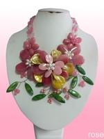 FBBG668   Rose the latest design semi-precious stone necklace