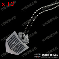 10 Pcs Big Fish shaped Thickness 0.5mm Stainless steel Guitar Picks Pendant Necklace Playing Heavy Metal guitar picks.