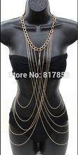 New Style BY430 Women Fashion Gold Chains Sexy Bikini Body Chains Jewelry