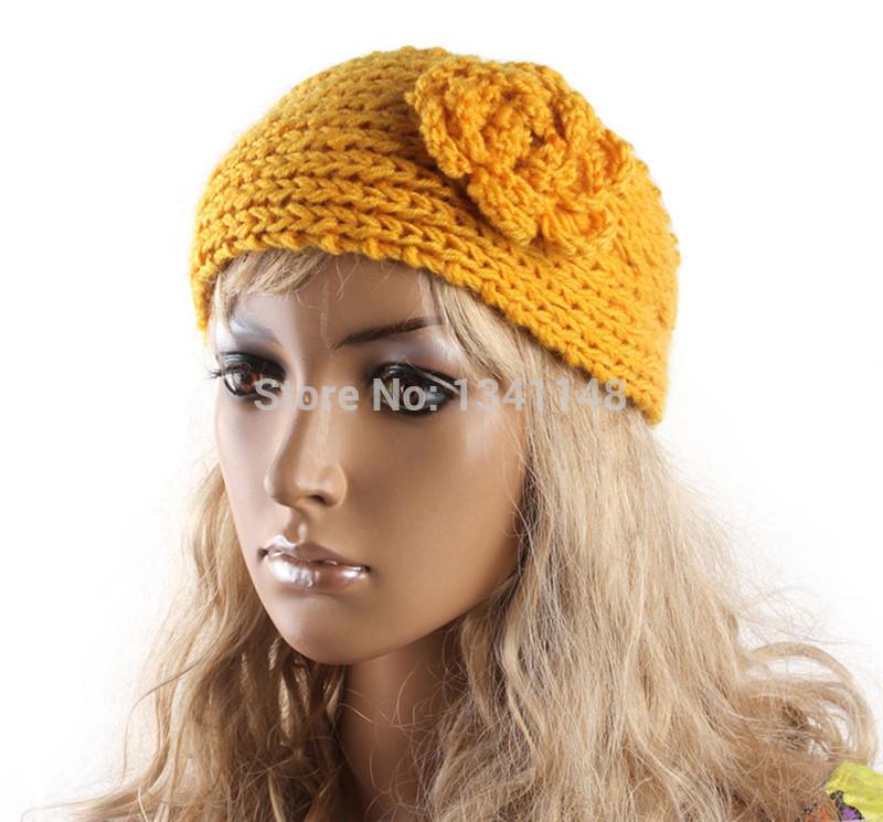300pcs Knit Hair band Crochet Flower Winter Ear Warmer Headwrap 24 Colors Headband for Women Children Girls Gift(China (Mainland))