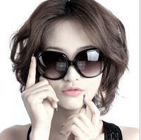 hot New Fashion Summer Cool Black Classic Big round Frame Vintage Glasses Sunglasses Women Brand Designer XH002