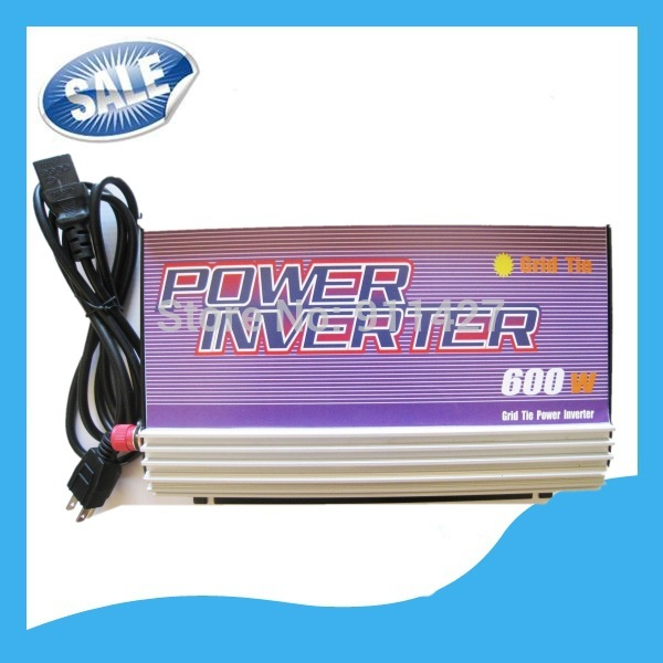 600W DC 10.8V-30V Grid Tie Solar Power Inverter For Solar Panel System Free Shipping New(China (Mainland))