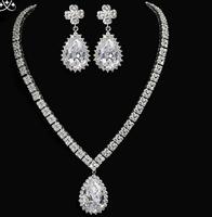High Quality Brand AAA Zircon Luxury Jewelry Set Women, Fashion Shining 3A Zircon  Prom Jewelry Set Free Shipping