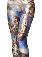 wholesale European style religious print legging sport causal leggings for women american apparel Dropship BXYD005