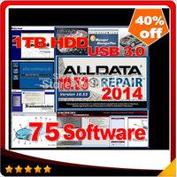 Big promotion 75in 1TB HDD 2014 alldata+mitchell +tecdoc+ ATSG+ ETKA 7.4+Transmission+vivid+ELSA+BENZ EPC+WIS+ med& heavy truck