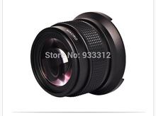 Hd Super Wide Angle Fisheye lente de 52 MM 0.42 X 52 MM para câmera Nikon D3200 D3100 D5200 D5100 D7000 com lente Macro grátis frete(China (Mainland))