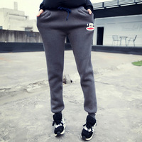 5000w attitude 2014 winter casual thickening cartoon monkey plus velvet sports pants female