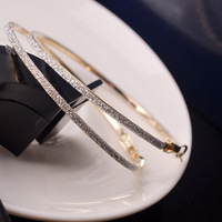 2014 New Brand Design European style Fashion simple Luxurious Romantic Big Hoop Earrings Wholesale Hot sales